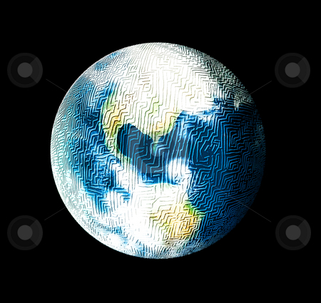 Mysterious World stock photo, Sometimes, the world is simply full of riddles and mysterious ways. There are multiple means of communication and travel which one can use. The earth is a maze with windy clouds. by Reinhart Eo