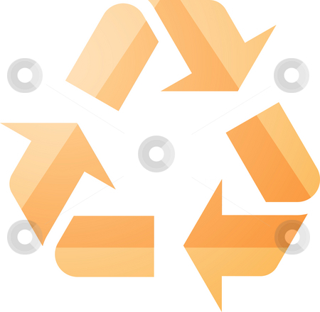 Recycling eco symbol stock photo, Recycling eco symbol illustration of three pointing arrows by Kheng Guan Toh
