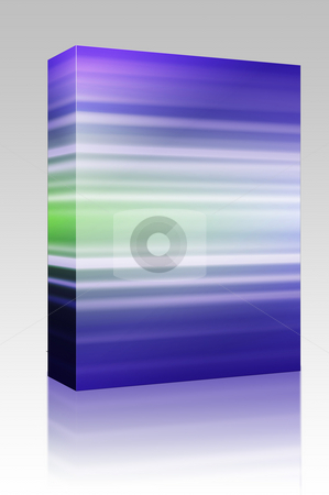 Colored lines box package stock photo, Software package box Glowing colored light streaks, horizontal lines abstract by Kheng Guan Toh