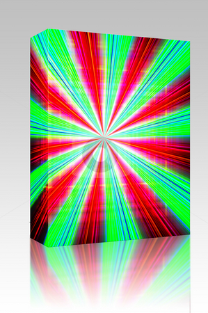 Zoom burst background box package stock photo, Software package box Radial zoom burst of energy, abstract background illustration by Kheng Guan Toh