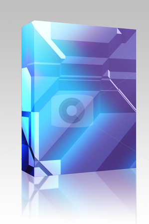 3d Geometric pattern box package stock photo, Software package box Smooth angular 3d geometric abstract graphic design background by Kheng Guan Toh