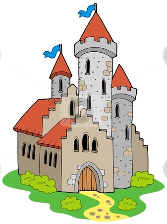 Ancient medieval castle stock vector clipart, Ancient medieval castle - vector illustration. by Klara Viskova