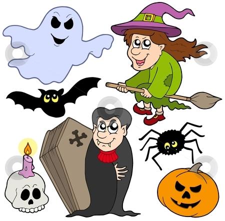 Various Halloween images 1 stock vector clipart, Various Halloween images 1 - vector illustration. by Klara Viskova