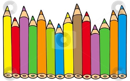 Various colors pencils stock vector clipart, Various colors pencils - vector illustration. by Klara Viskova