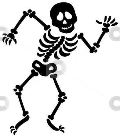 Dancing skeleton silhouette stock vector clipart, Dancing skeleton silhouette - vector illustration. by Klara Viskova