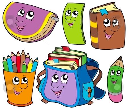 Back to school collection 5 stock vector clipart, Back to school collection 5 - vector illustration. by Klara Viskova