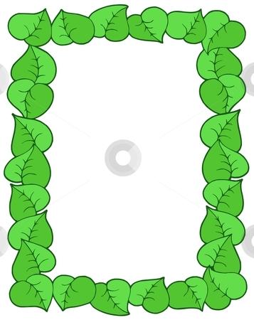 Frame from leaves stock vector clipart, Frame from leaves - vector illustration. by Klara Viskova
