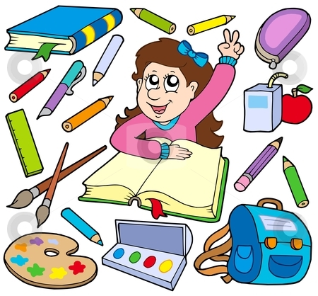 Back to school collection 3 stock vector clipart, Back to school collection 3 - vector illustration. by Klara Viskova