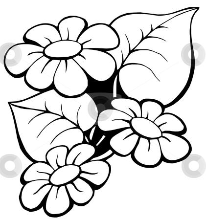 Floral motive 1 stock vector clipart, Floral motive 1 on white background - vector illustration. by Klara Viskova