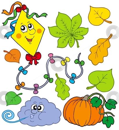 Autumn collection 1 stock vector clipart, Autumn collection 1 on white background - vector illustration. by Klara Viskova