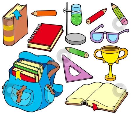 Back to school collection 4 stock vector clipart, Back to school collection 4 - vector illustration. by Klara Viskova