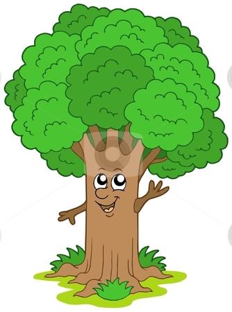 Cartoon tree character stock vector clipart, Cartoon tree character - vector illustration. by Klara Viskova