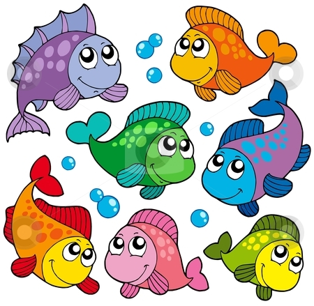 Various cute fishes collection 2 stock vector clipart, Various cute fishes collection 2 - vector illustration. by Klara Viskova