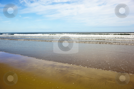 Sand sea and sky 5 stock photo, A view of a seascape in summer by Mike Smith