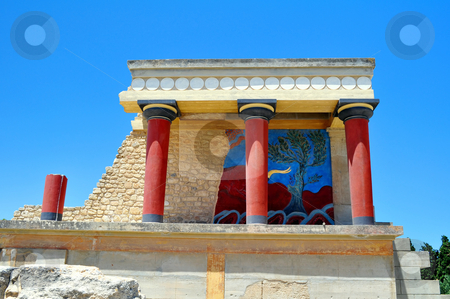 Archaeological site of Knossos. stock photo, Travel photography: Ancient ruins: Knossos Palace in Crete, Greece by Fernando Barozza