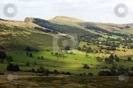 Peak District National Park  stock photo, Hope Valley in Peak District National Park Derbyshire England by Stephen Meese