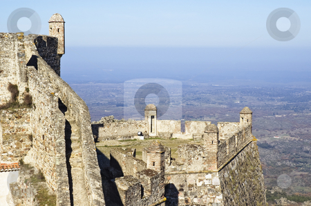 Castle of Marvao stock photo, Walls of the Castle of Marvao, Alentejo, Portugal by Manuel Ribeiro