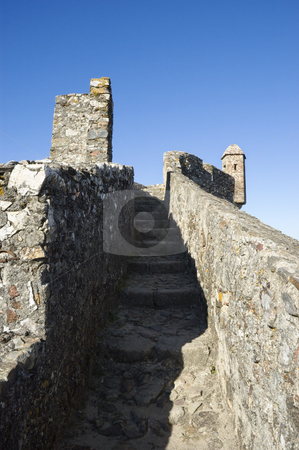 Castle of Marvao stock photo, Pathway in the walls of the Castle of Marvao, Alentejo, Portugal by Manuel Ribeiro