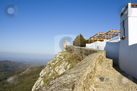 Castle of Marvao stock photo, Footpath in the walls of Castle of Marvao, Alentejo, Portugal by Manuel Ribeiro