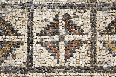Roman mosaics stock photo, Mosaics of the roman villa of Pisoes near Beja, Alentejo, Portugal by Manuel Ribeiro