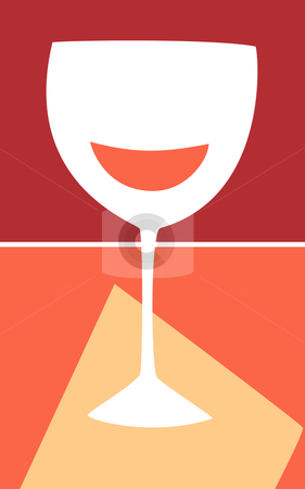 Wine Glass stock vector clipart, Retro Styled wine glass in warm colors. by Jeffrey Thompson