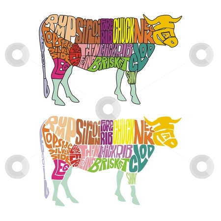 Fully editable farm animal from words stock vector clipart, Fully editable farm animal from words by pilgrim.artworks