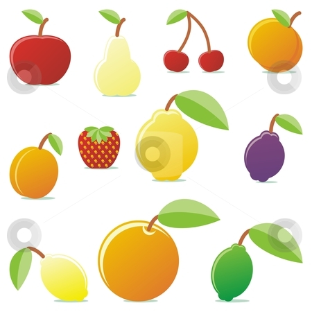 Fully editable vector fruits with details ready to use stock vector clipart, Fully editable vector fruits with details ready to use by pilgrim.artworks