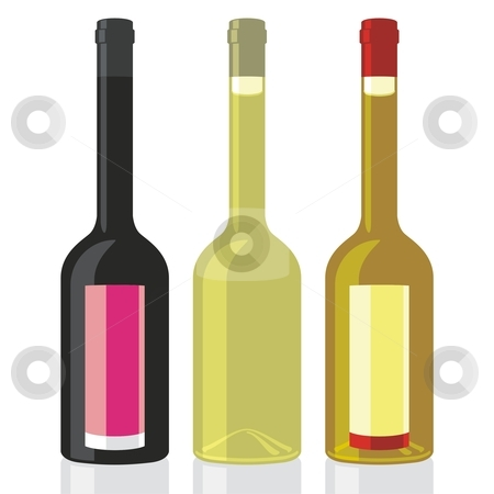 Vector illustration of classic shape vinegar and olive oil bottles  stock vector clipart, Vector illustration of classic shape vinegar and olive oil bottles by pilgrim.artworks