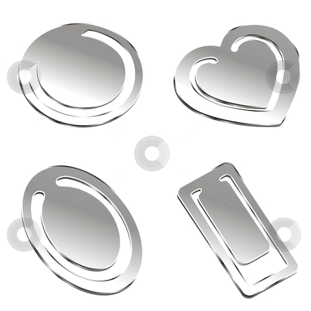 Fully editable vector metal accesories stock vector clipart, Fully editable vector metal accesories by pilgrim.artworks