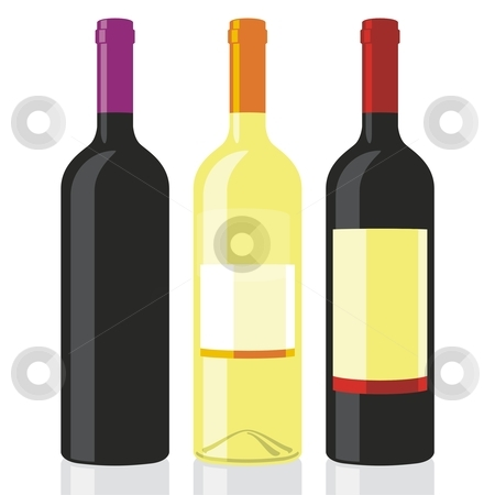 Fully editable vector illustration of classic shape wine bottles ready to use  stock vector clipart, Fully editable vector illustration of classic shape wine bottles ready to use by pilgrim.artworks