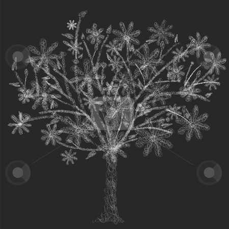 Fully editable vector illustration of stylized wire tree with details ready to use  stock vector clipart, Fully editable vector illustration of stylized wire tree with details ready to use by pilgrim.artworks