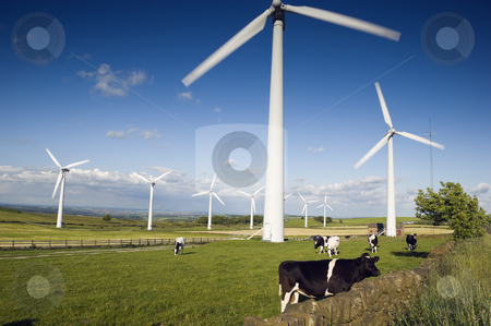 Wind Farm Yorkshire stock photo, Wind Turbines on Royd Moor above Penistone England by Stephen Meese