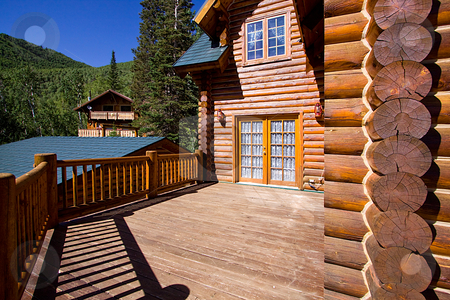 Close up on a Cabin stock photo, Close up on the balcony of a Cabin by Mehmet Dilsiz