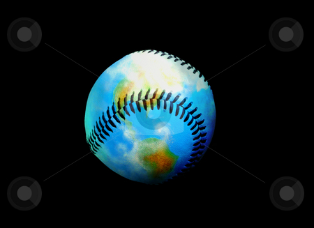 Earth of Leather Baseball stock photo, The World of Baseball by Reinhart Eo