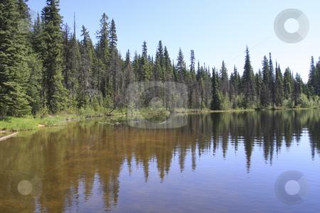 Lake with mountain reflection stock photo, Lake with mountain reflection by Sharron Schiefelbein