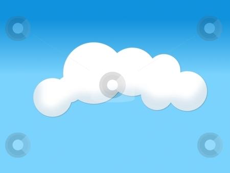 Cloud stock photo, Soft white cloud illustration on blue background by Henrik Lehnerer