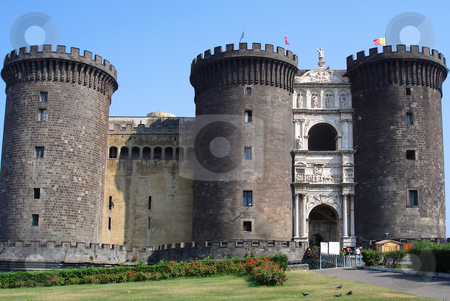 Castle Nuovo, Naples, Italy. stock photo, Medieval Castle Nuovo, used to protect Naples. by Peter Van veldhoven