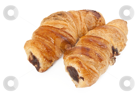 Cannoli stock photo, Two pastry roll with chocolate isolated on white background by ANTONIO SCARPI