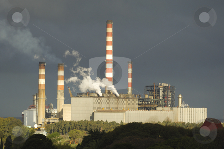 Power plant in buenos aires stock photo, Power plant buenos aires by Frederic Cholin