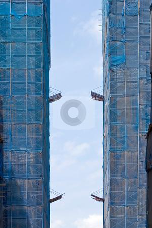 Buildings under construction stock photo, Buildings under construction, real estate by Lawren