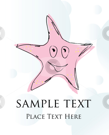 Starfish stock photo, Starfish card by Richard Laschon