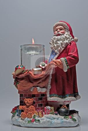 Santa Claus stock photo, Santa Claus statue photograph taken in studio by Marek Poplawski