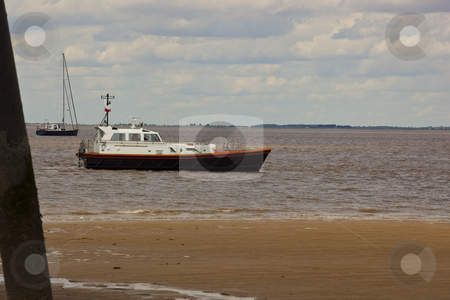 Humber pilot boat stock photo, pilot boat on the humber estuary at spurn head on yorkshires east coast by Mike Smith