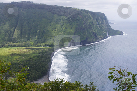 Misty shoreline of the Big Island of Hawaii stock photo, Misty shoreline of the Big Island of Hawaii by Sharron Schiefelbein