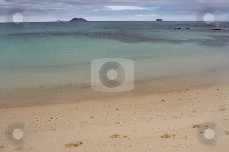 Seascape view of a Galapagos Island beach, Ecuador, South Americ stock photo, Seascape view of a Galapagos Island beach, Ecuador, South America by Sharron Schiefelbein