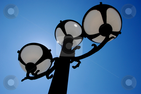 Lamp Post stock photo, USA, Idaho, Boise, Lake Harbor, Street Lamps by David Ryan