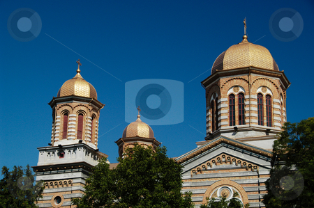 St. Peter & Paul Cathedral stock photo, Romania, Bucharest, Constanta, Cathedral of Sts. Peter & Paul (Orthodox, 1895) by David Ryan