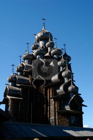 Transfiguration Church stock photo, Russia, Karelia Republic, Lake Onega, Kizhi Island, Kizhi Open Air Museum, Transfiguratoin Church by David Ryan