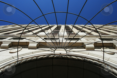 Looking up stock photo, Entrance of the Petroleum Building in Wichita, Kansas by Margaret Roew