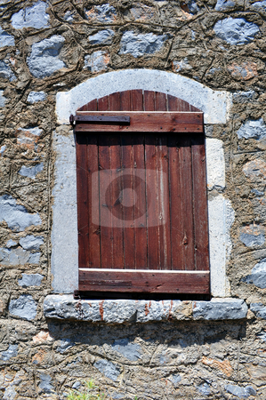 Old window stock photo, Old window in rural area of Crete, Greece by Fernando Barozza